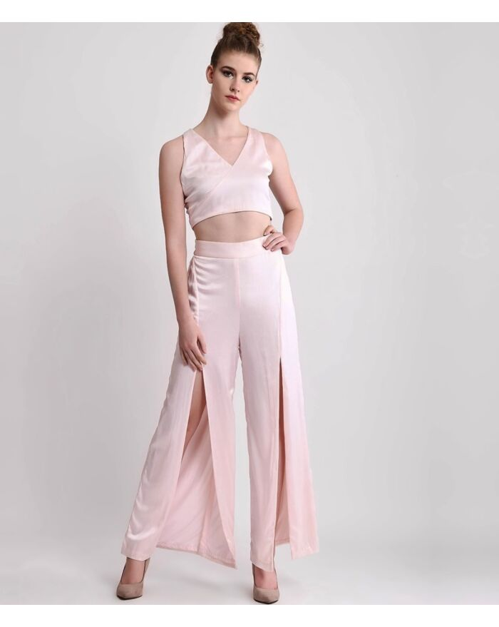 SM Premium Silk Crop Top & Pants Co ord set